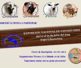 Invitación Exposición Nacional de Ganado Cebú 2014